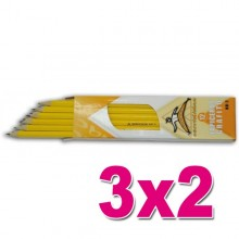 OFERTA 3X2 Lapicero de Grafito Rectangular (Docena)