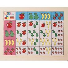 Juego de lógica frutas