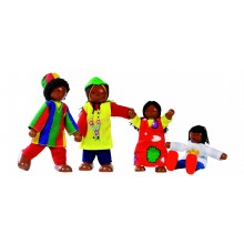 Muñecos Familia Africana
