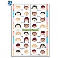 Expresiones Faciales (pack 5 carteles)
