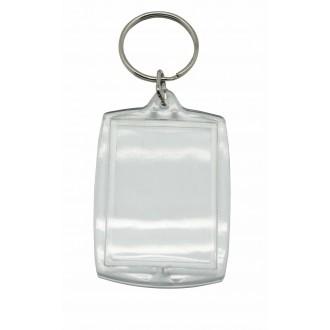 Llaveros de plástico cristal rectangulares