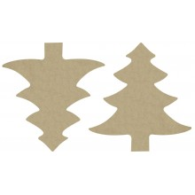 Pack 4 formas árbol navideño