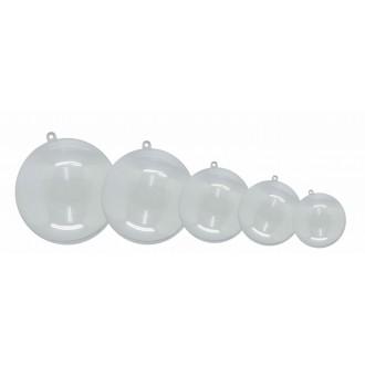 Pack 5 bolas plástico cristal 80 mm