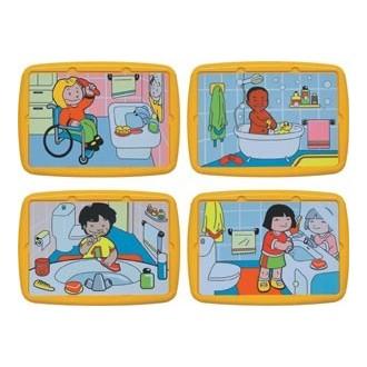 Hábitos de higiene (4 puzles)
