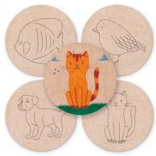 Posavasos de madera Animales