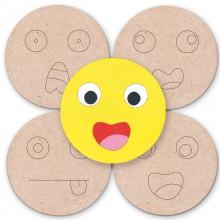 Posavasos de madera Emoticonos