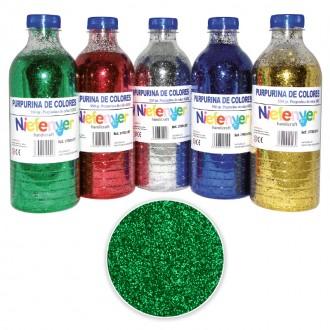 Botella de Purpurina Verde