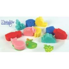 Esponjas con formas de frutas (10 unidades)