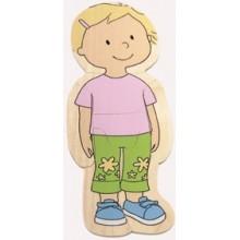 Puzzle cuerpo humano niña
