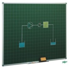 Pizarra verde cuadriculada marco Aluminio
