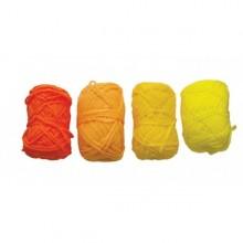 4 Ovillos de lana acrilica amarillo