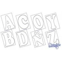 Cartones abecedario A-3