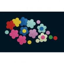 Bolsa 32 flores caucho eva purpurina