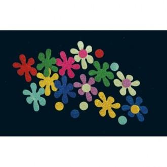 Bolsa de 24 flores caucho eva purpurina
