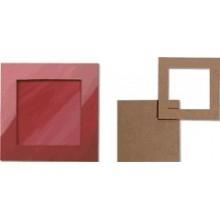 Pack 5 marcos cuadrados 18x18 cm
