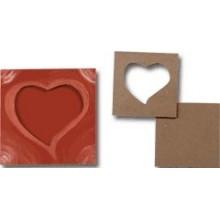Pack 5 marcos corazones 14x14 cm