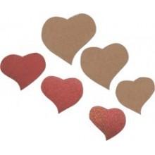 Pack 6 Formas corazones