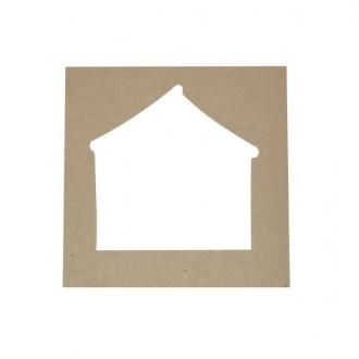 Pack 4 plantillas con forma de casa