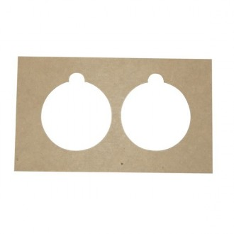 Pack 4 plantillas dobles con forma de bola navideña