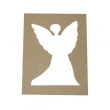 Pack 4 plantillas con forma de ángel