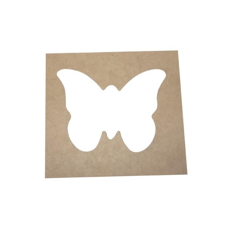 Pack 4 Plantillas Con Forma De Mariposa