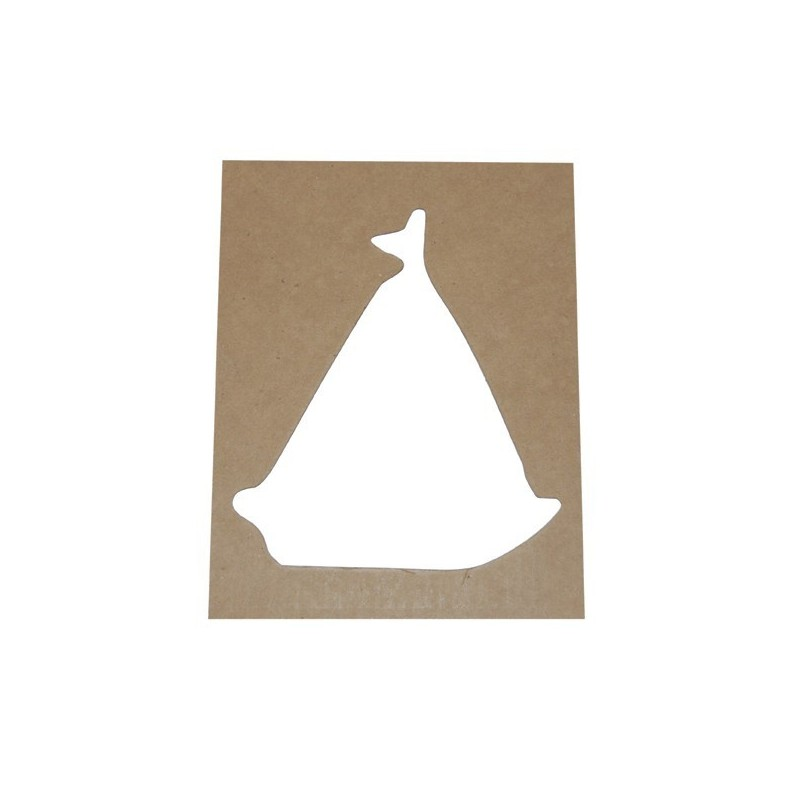 Pack 4 plantillas con forma de barco velero